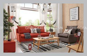 Cuồng nhiệt, chỉ có ghế sofa giường màu đỏ với sắc thái mạnh mẽ mới có thể làm được điều đó