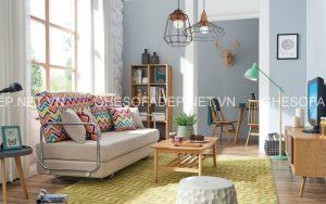Những mẫu ghế sofa giường đa năng màu nhẹ nhàng, trung tính như kem, be, trắng sẽ rất được ưa chuộng trong mùa hè này