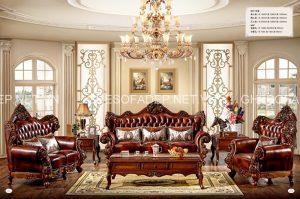 Ấn tượng sofa cổ điển cho biệt thự