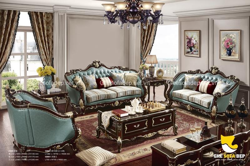 Hãy lựa chọn những màu tươi mát cho mẫu ghế sofa cổ điển của bạn