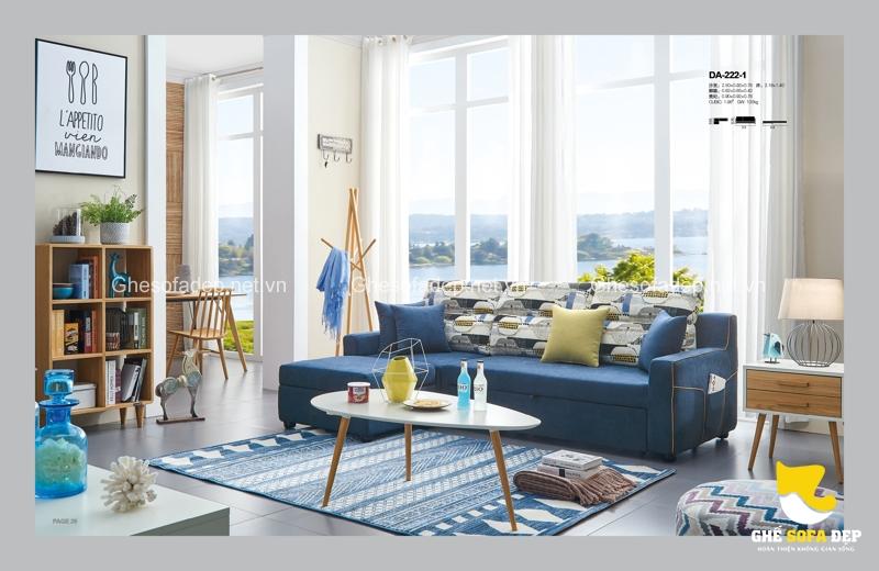 Mang đến hơi thở của đại dương, sofa giường màu xanh chính là yếu tố làm nên phong cách Scandinavian