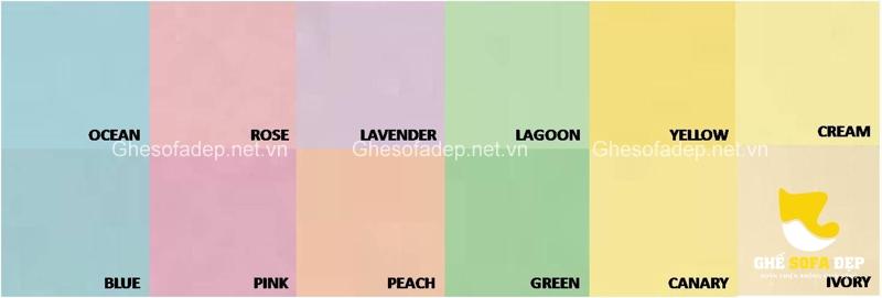 Bảng màu Pastel là những gam màu sáng