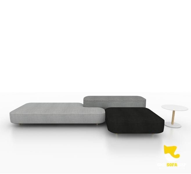 Chiếc ghế sofa này gây chú ý bởi sự đơn giản đến không ngờ