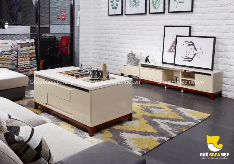 Khi cần đổi mới cho căn phòng khách, hãy bắt đầu từ chiếc bàn trà và bộ ghế sofa