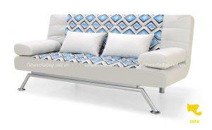 Sofa phòng khách với sắc màu nền nã, dịu nhẹ, tạo cảm giác tươi mới cho không gian